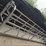 zlp630 / 800 ll形铝合金,钢结构悬挂式工作平台升降在建筑物的窗户上