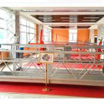 zlp630铝制悬挂平台(ce iso gost)/高层窗户清洁设备/临时吊篮/摇篮/秋千舞台热