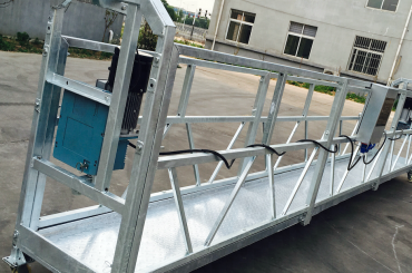窗户清洁zlp630绳索悬挂平台贡多拉摇篮与升降机ltd6.3