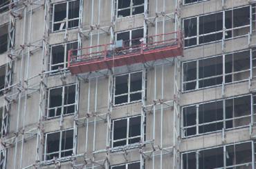 zlp系列悬挂式工作平台易折叠铝合金电动